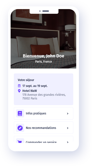 Logiciel Concierge - Application engagement client engagement